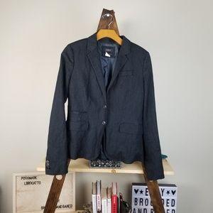 J. Crew▪︎ Gray School Boy Two Button Blazer